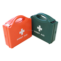 DIN 13157 plastic box car first aid kit with handle and wall-mounting bracket