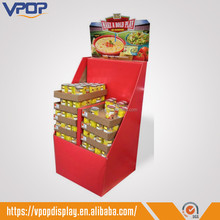 Foldable Dump Bin Paper Cardboard Retail Display Boxes for Supermarket