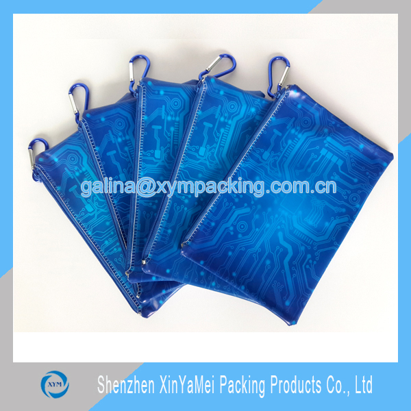 plastic pvc custom printed pencil case for promotion