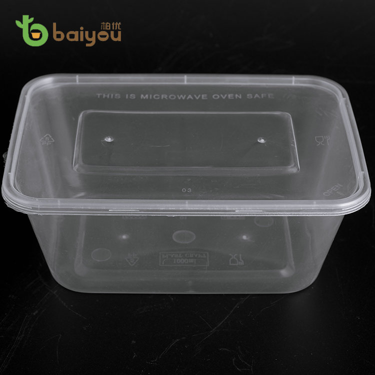 Cheap Microwave Black Plastic Food Disposable Container