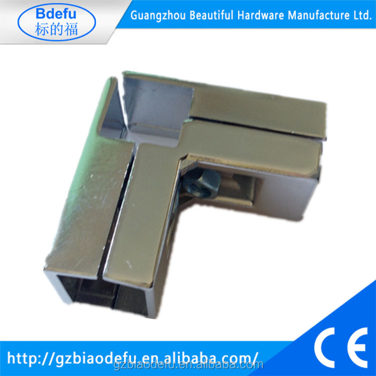 Metal Square tube connector for supermarket shelves