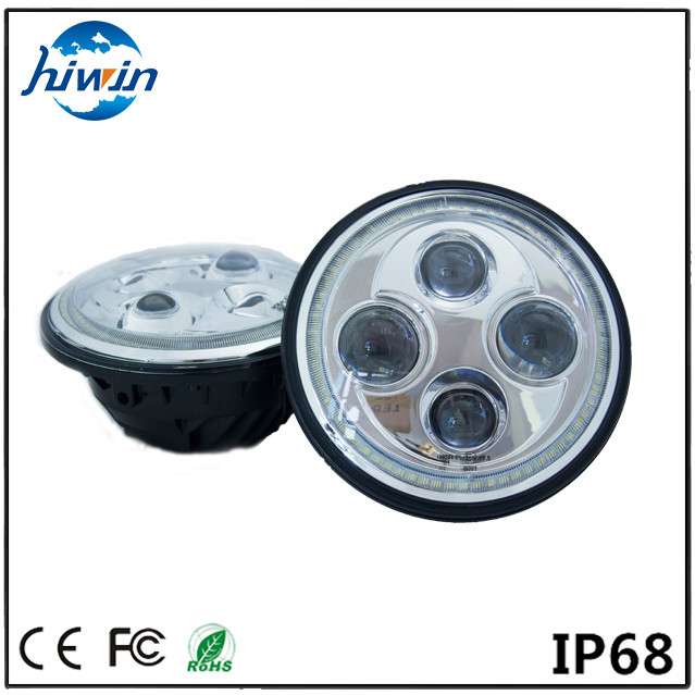 Hiwin hot selling high low beams 7inch 48w led headlight IP67 E-mark for motocycle offroad 7 inch led headlight for jee p