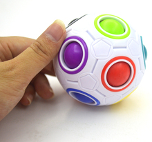 Dropshipping Strange-shape Magic Cube Fidget Toy Desk Toy Anti Stress Rainbow Ball Football Puzzles