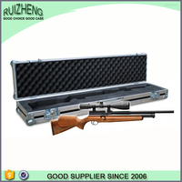 Hot custom fashion aluminum frame wooden gun case