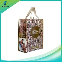 China fashion luxury reusable PP woven shopping bag manufacturer custom