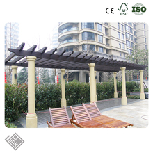 waterproof arbor covers building materials outdoor wpc pergola made in china