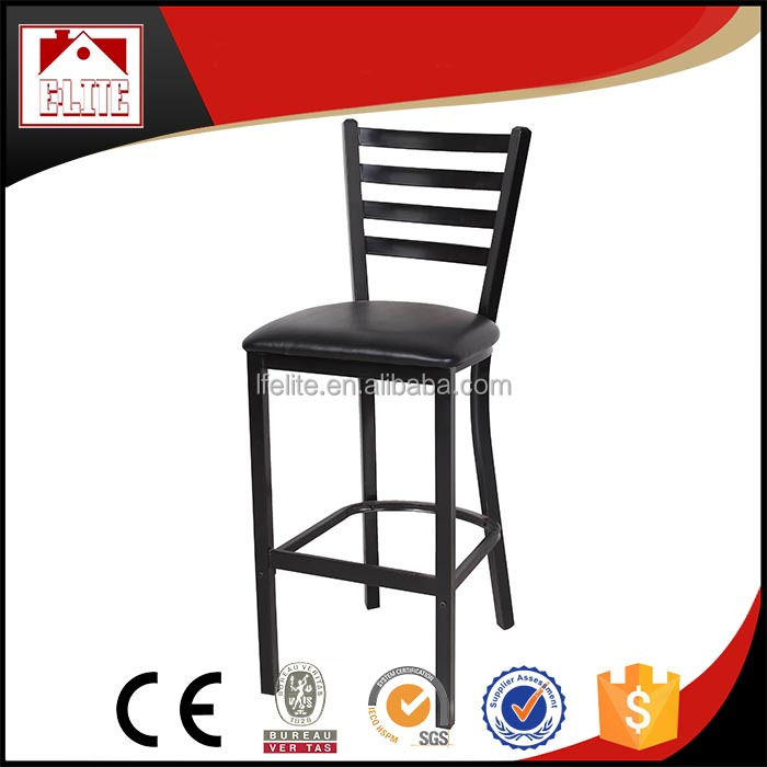 Metal chair used in Starbucks,ladder back chair