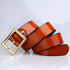 High Quality Mens Brown Italian Woman Designer Cow Leather Belt