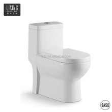 Lady flushing spray hole small dimension ceramic washdown combination toilet with bidet