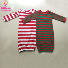 Infant Baby Girls Winter Party Dresses Gowns Sleeping Boutique Long Sleeve Pajamas Baby Christening Striped Gowns