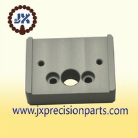 Worked in dark grey anode products high quality aluminium alloy CNC machine processing precision custom parts