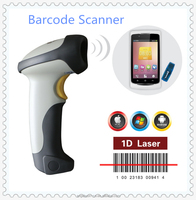 1D handheld bluetooth barcode scanner RF ticket supermarket barcode reader for Android PC tablet(10x)