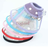 2015 Breathable Mesh Pet Dog Cat Puppy Collar Protector with D ring Anti Bite Jogging Dog Collar 5 colors
