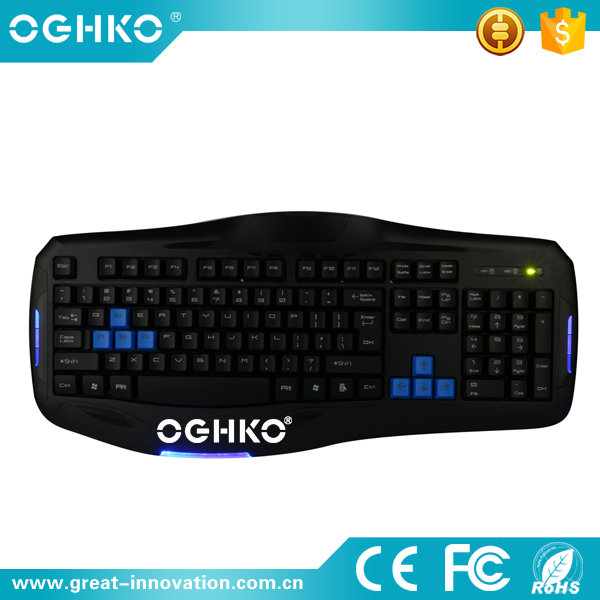 Professional manufacturer USB led light wired gaming computer keyboard