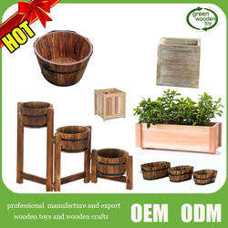 2016 Top new wooden flower pot , Hot wooden flower Planters for sale