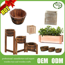 2017 Wholesale Large Wooden Flower Pot Planter , Hot Wooden Flower Pot Stands Desgins For Sale