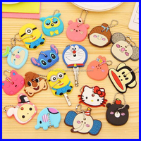 3D soft pvc rubber key chain/keyring/ keychain/key covers