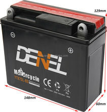 Dry Cell 12v 7ah Sealed Lead Acid Battery Maintenance Free For Wuyang 125 Motorcycle