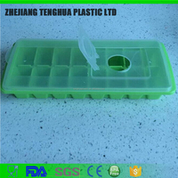 Eco-Friendly BPA free Easy Release Ice Cube Tray with Removable Cover HF-144