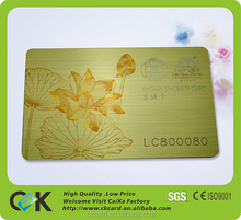 High quality brush gold VIP card printing with serial number