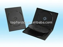 High quality 14mm Black DVD box for 3-4 discs
