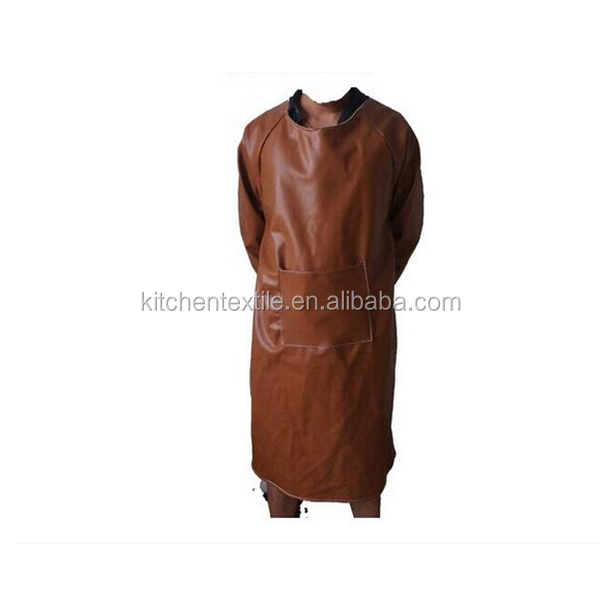 Water-proof PU leather apron for fish/butcher market