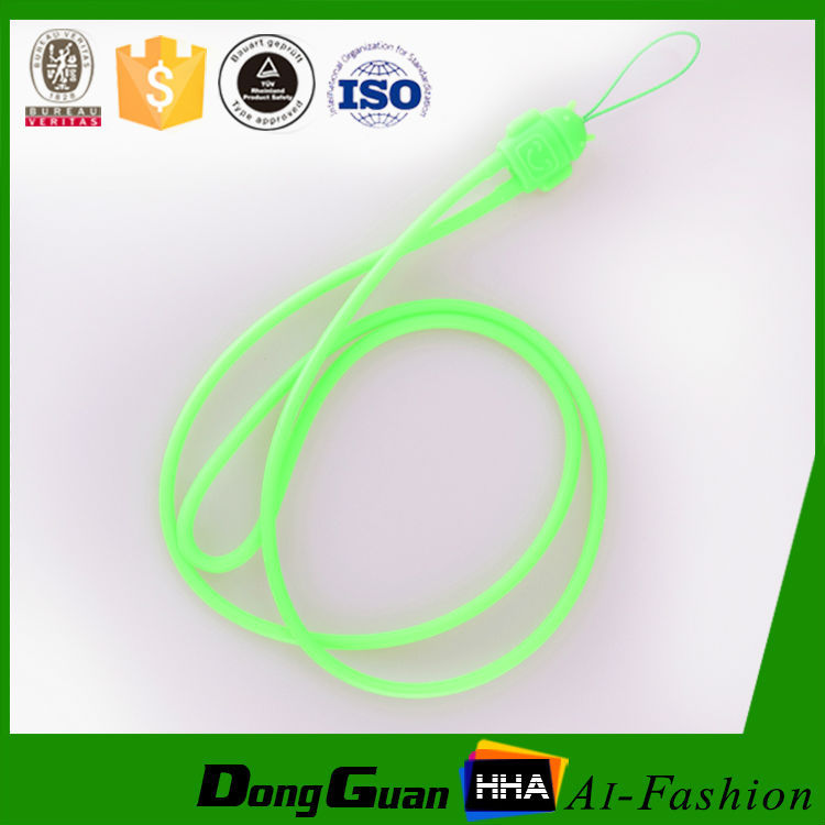 Fashion silicone rubber lanyard neck strap