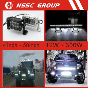NSSC light bar 50 Inch offroad CREE Chip ledf lood light SUV Moto 4x4 truck pickup Work light.