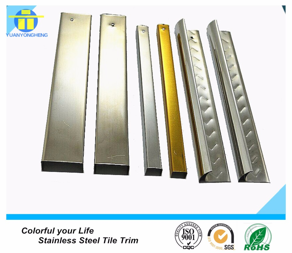 304 decorative stainless steel L shaped tile trim