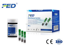 FED Brand One Step Blood Glucose Test Strips with Accurate Results