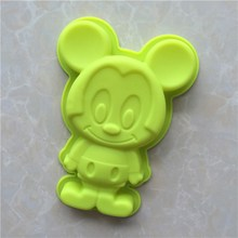Mickey Mouse Shape Silicone Muffin Cake Pan Chocolate Jelly Mold Silicone Mickey Mouse Cake Pan