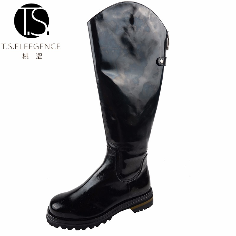 New Style Sexy Fashion Winter Waterproof Women PU Leather Over Knee Martin Boots Ladies Boot Shoes