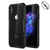 HUYSHE Mobile Phone Accessories 2 in 1 Tempered Glass Case 9H Back Shell Cover Case for iphone X