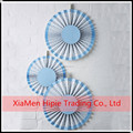 Hot sale Blue paper rosettes baby shower party wall hanging decoration