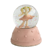 lovely pink girl custom gifts snow globe manufacturers water glass snow globe