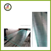 straight corrugation vifrification cast glass for bathroom partition