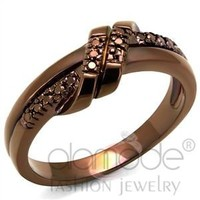 Fashion Jewelry Wholesale Le Chocolate Rose Gold Infinity Ring