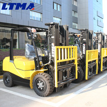 China hand manual forklift prices 3 ton forklift with 3-stage mast