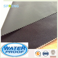 Black Hot Coating Poly Knit Fabric Coated With PVC