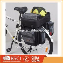 Bike Frame Bag 3 in 1 Waterproof Bicycle Front Tube Bag Double Pouch with PVC Touch Screen Phone Case
