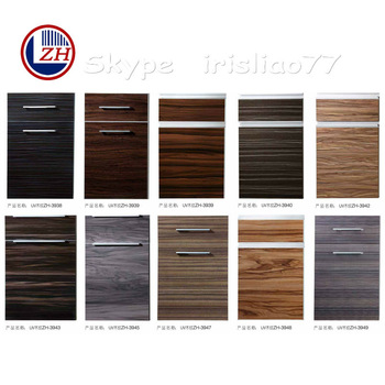 Wood grain kitchen doors