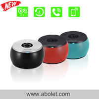Touch Screen Mp3 Mp4 Mp5 Player Use Black Colored Round Drum Bluetooth Speaker