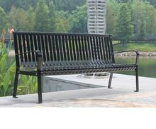 Arlau outdoor decoration iron benches,outdoor slat steel benches,mall waiting chair