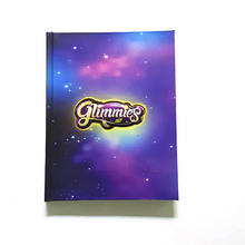 Professional Wholesale hardcover flashing custom fashion notebook cheap personal journal 2018 diary