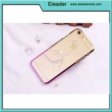 Diamond transparent hard pc cover case for iphone 5/5s