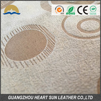 2014 hot sale sofa leather 100% polyester suede fabric in China