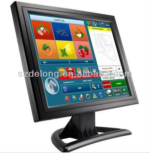 15Inch Used Desktop Computer Monitor VGA TFT LCD Touch Screen Monitor