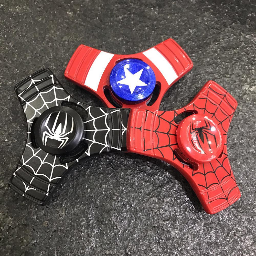 Colorful captain america batman spider man Hand Made EDC fidget toy spinner