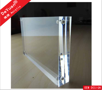 Clear acrylic fridge magnetic frameless photo frame wholesales