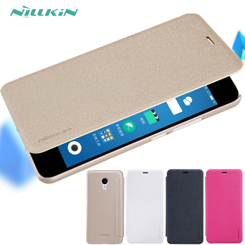 Nillkin Flip Leather Skin Bumper Back Cover Case For Meizu Pro 6 5 Plus Mx5 Mx4 Pro M5S M5 M3S M3 M2 M1 E X Note Metal